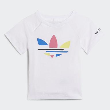 Conjunto pantalón corto y camiseta Adicolor Blanco Niño Originals