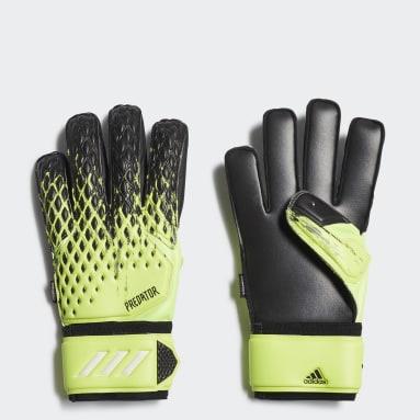 Football Green Predator 20 Match Fingersave Goalkeeper Gloves