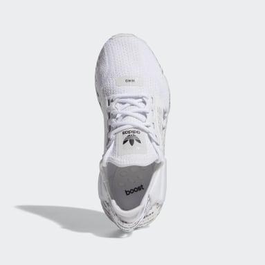 Chaussure NMD_R1V2 blanc Adolescents 8-16 Years Originals