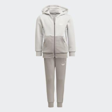 Ensemble adidas SPRT Collection Full-Zip Hoodie Gris Enfants Originals
