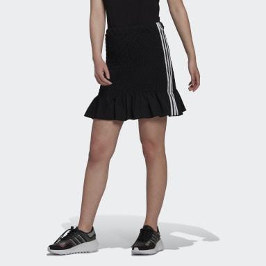 Women Originals Black Smocked Skirt