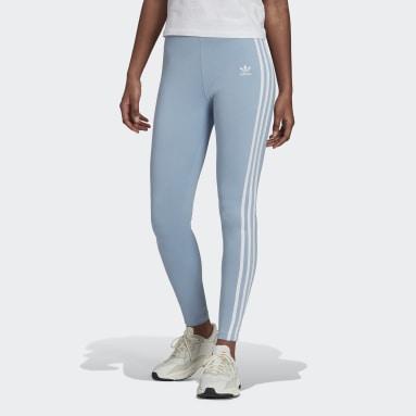 Dames Originals blauw Adicolor Classics 3-Stripes Legging