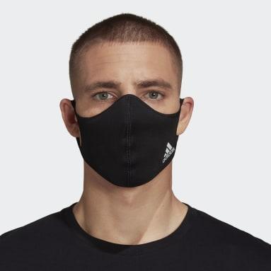 Sportswear Sort Badge of Sport ansigtsklæde – ikke til medicinsk brug