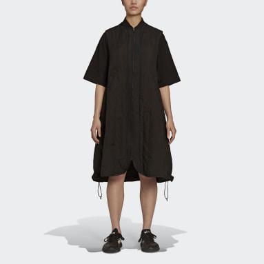 Women Y-3 Black Y-3 Cloud Quilted Gilet Dress