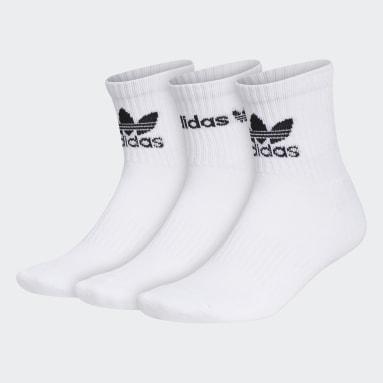Men's Originals White Icon Quarter Socks 3 Pairs
