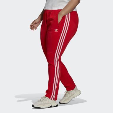 Dames Originals rood Primeblue SST Trainingsbroek (Grote Maat)