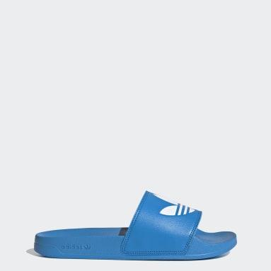 ผู้ชาย Originals สีน้ำเงิน รองเท้าแตะ Adilette Lite