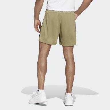 Shorts Primeblue Designed To Move Sport 3 Franjas Verde Hombre Training