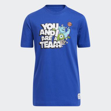 Kids Basketball Blue Big Kids You and I Are a Team T-Shirt