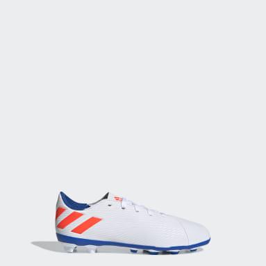 Girls Football White Nemeziz Messi 19.4 Flexible Ground Boots