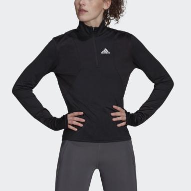 Ženy Běh černá Tričko adidas Own The Run 1/2 Zip