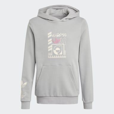 Sweat-shirt Graphic Print gris Adolescents Originals
