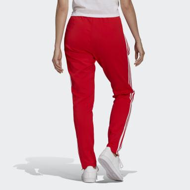 Ženy Originals červená Sportovní kalhoty Primeblue SST