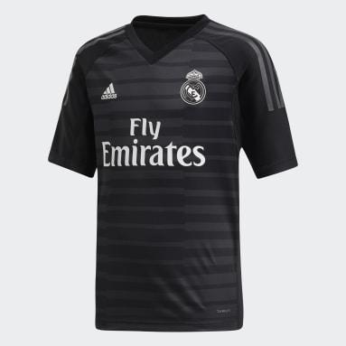 Jersey de Arquero Real Madrid Local Niño 2018 (UNISEX) Negro Niño Fútbol