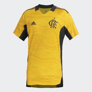 Camisa 1 Goleiro CR Flamengo 21/22 Amarelo Homem Futebol