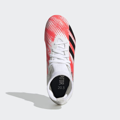 Zapatos de fútbol Predator 20.3 Terreno Firme Blanco Niño Fútbol