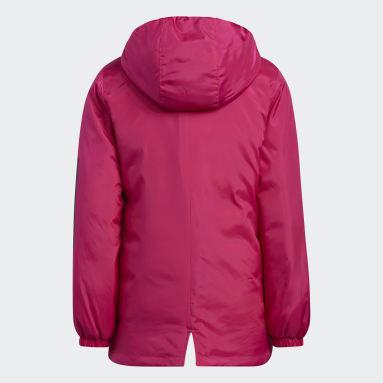 Youth Training Burgundy Insulated Parka Jacket