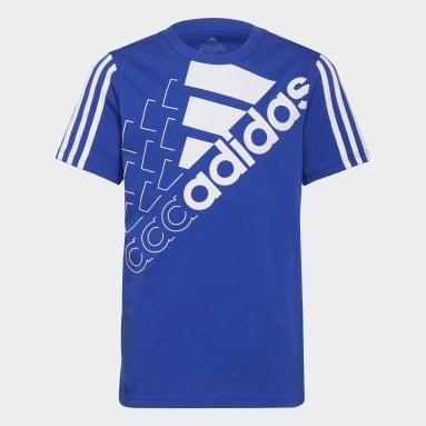 Youth 8-16 Years Sportswear Blue adidas Essentials Logo T-Shirt