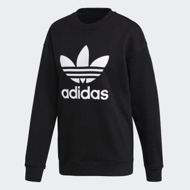 Women's Originals Black Trefoil Crew Sweatshirt