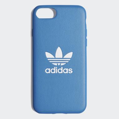 Coque Basic Logo iPhone 8 Bleu Originals