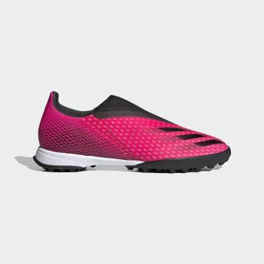 Fodbold Pink X Ghosted.3 Laceless Turf støvler