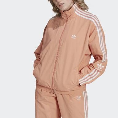 Women's Originals Pink Adicolor Classics Lock-Up Track Jacket