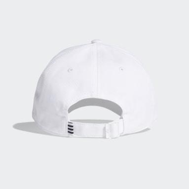 วิ่ง สีขาว หมวกแก๊ปผ้าทวิล Baseball 3-Stripes