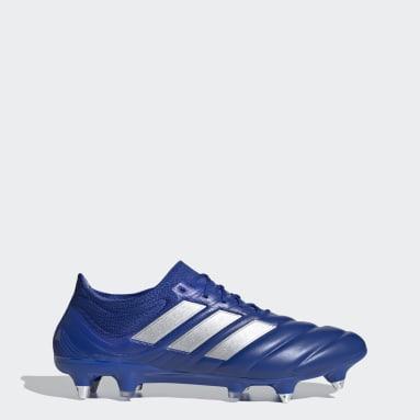 Calzado de Fútbol Copa 20.1 Terreno Suave Azul Hombre Fútbol