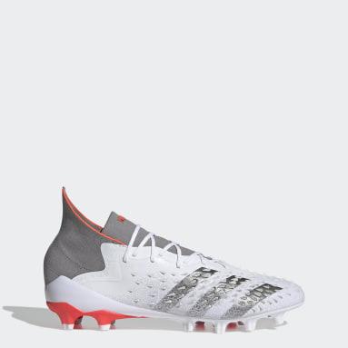 Football White Predator Freak.1 Artificial Grass Boots