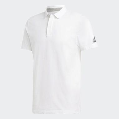 Erkek Sport Inspired Beyaz Must Haves Plain Polo Tişört