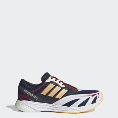 Men Running Blue Adizero Pro V1 DNA Shoes