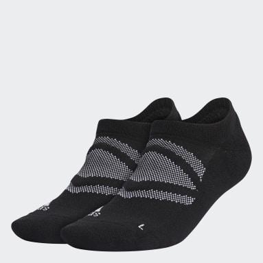 Men Golf Black Mesh Low-Cut Socks 2 Pairs