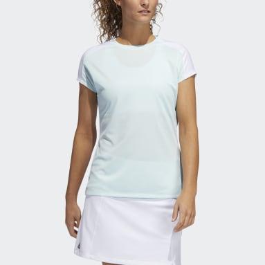 Ženy Golf zelená Polokošile Colorblock Primeblue HEAT.RDY