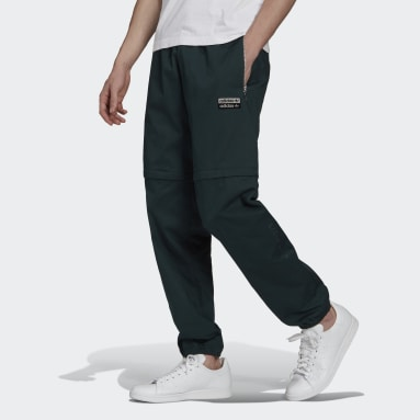Men Originals Green R.Y.V. Cotton Twill Two-in-One Tracksuit Bottoms