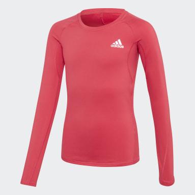 розовый Лонгслив для фитнеса Alphaskin AEROREADY