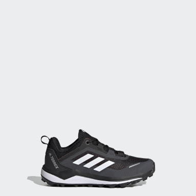 Kids TERREX Black Terrex Agravic Flow Primegreen Trail Running Shoes