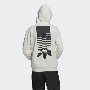 Graphics Symbol Hoodie Bialy