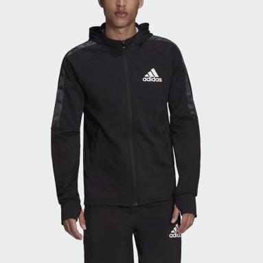 Men's Training Black AEROREADY Designed to Move Sport Motion Logo Hoodie