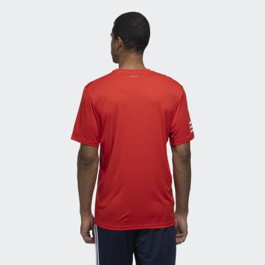 Men Tennis Red Club 3-Stripes Tee