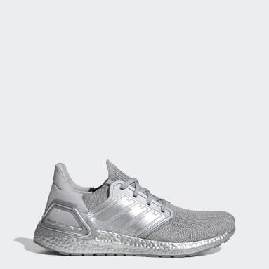 Men Running Silver Ultraboost 20 Shoes