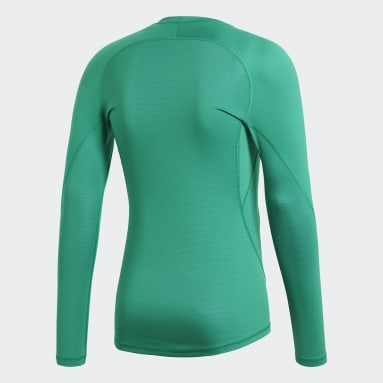 Camiseta Alphaskin Sport Verde Hombre Fútbol