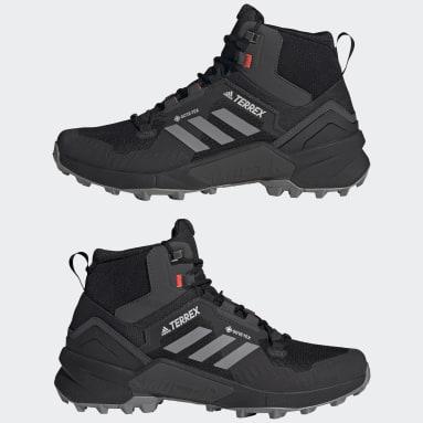 черный Высокие кроссовки для хайкинга Terrex Swift R3 GORE-TEX