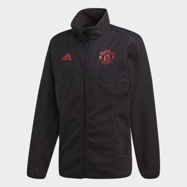 Jaqueta Fleece Especial da Temporada Manchester United Preto Homem Futebol