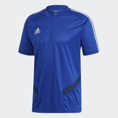 Men Gym & Training Blue Tiro 19 Training Jersey