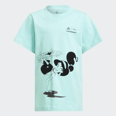 Kids 4-8 Years Gym & Training Green Disney Comfy Princesses T-Shirt
