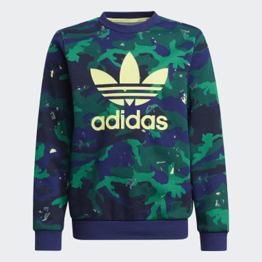 Jongens Originals Blauw Camo Print Sweatshirt