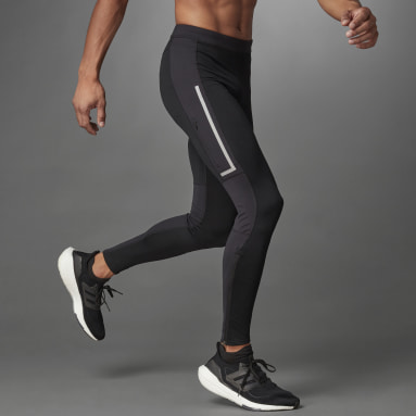 Muži Běh černá Legíny Saturday Warm Running