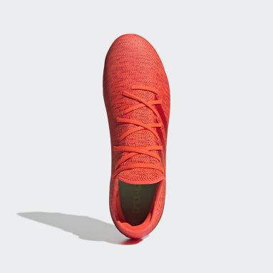 Bota de fútbol Gamemode Knit césped natural seco Naranja Fútbol
