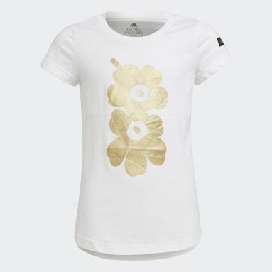 Girls Lifestyle White Marimekko Graphic Tee