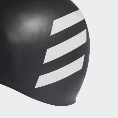 Swimming Black 3-Stripes Swim Cap